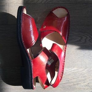 Shoes - Red patent leather sandals